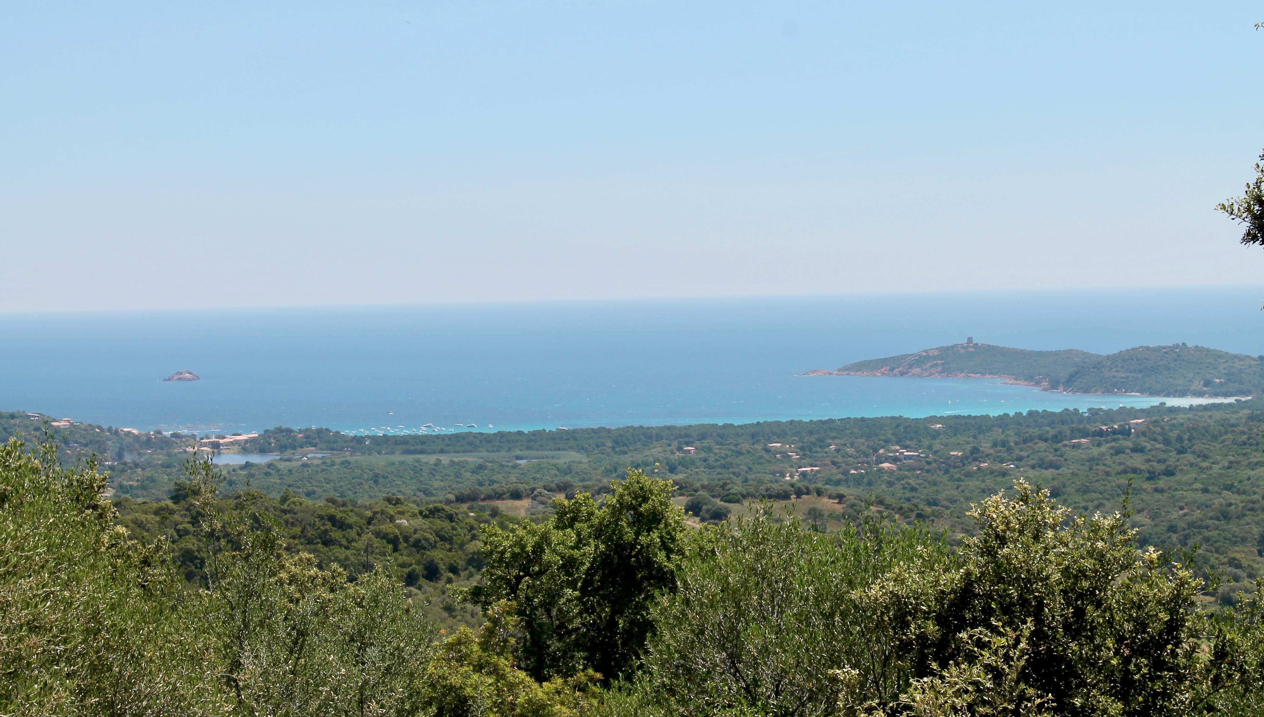 Corsica wine tour, bay view