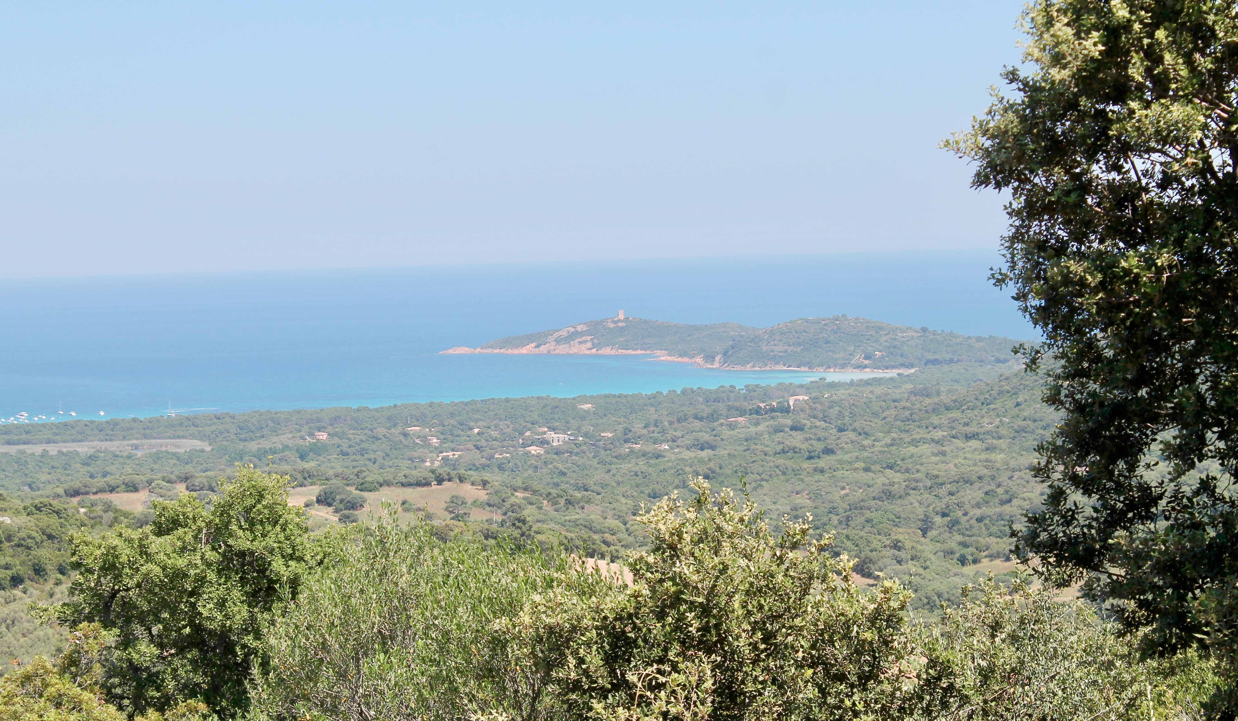 Corsica wine tour, view from the mountain