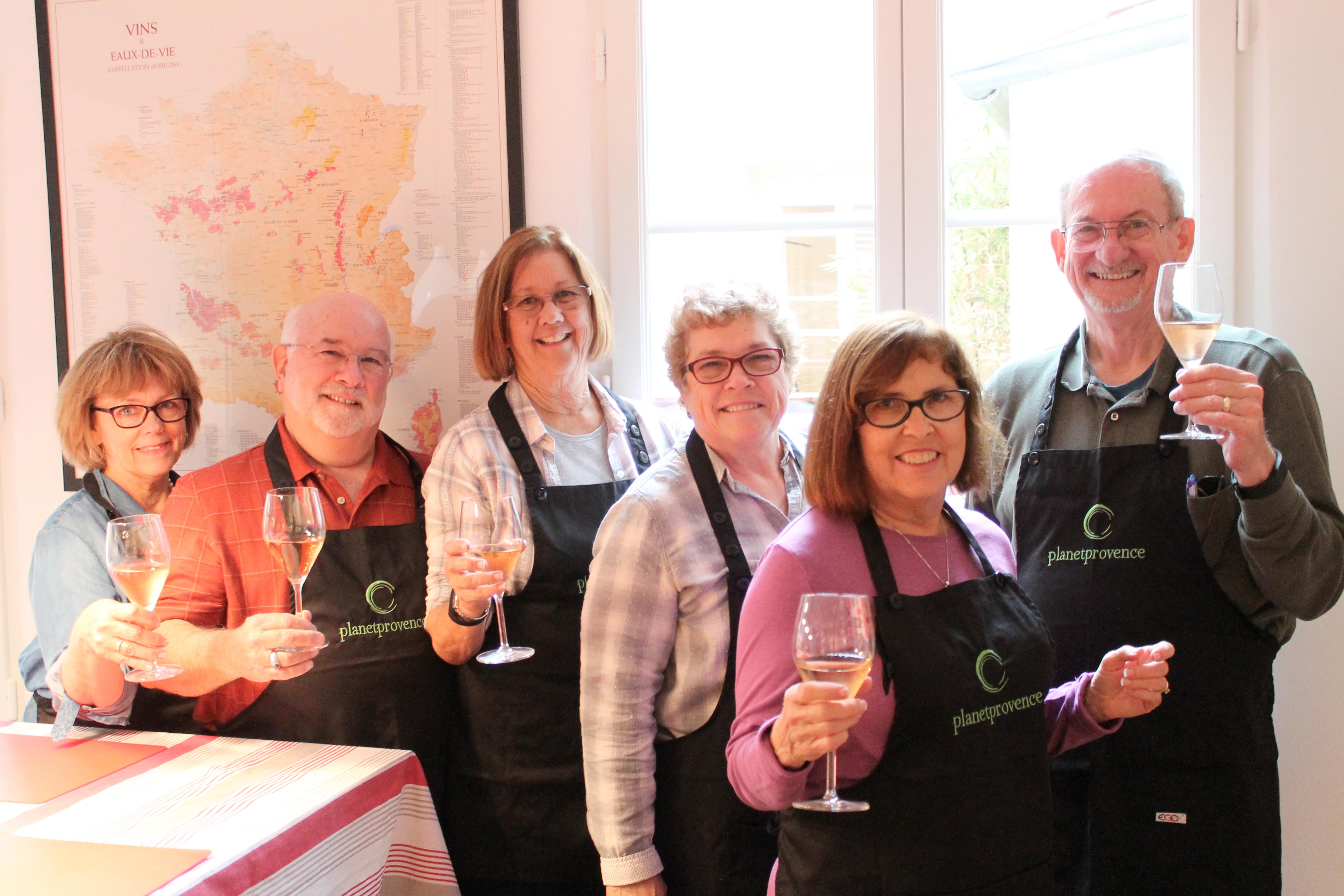 Wine and cooking class, let us toast rosé