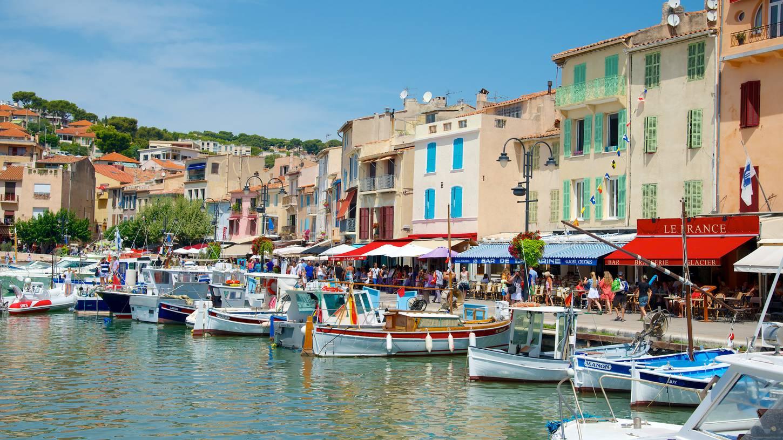 Shore excursion, port of Cassis