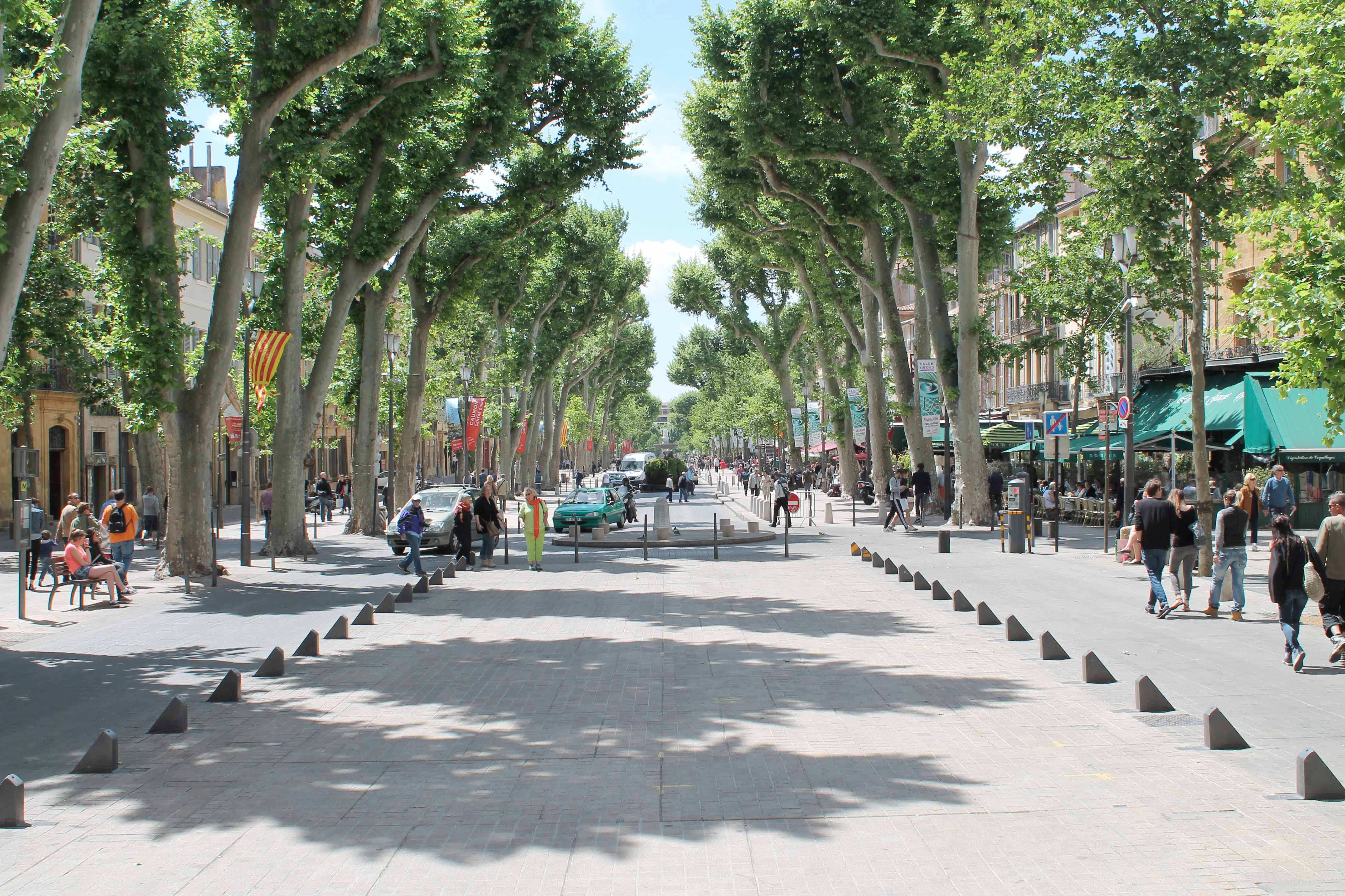 Shore excursion, Cours Mirabeau, Aix en Provence