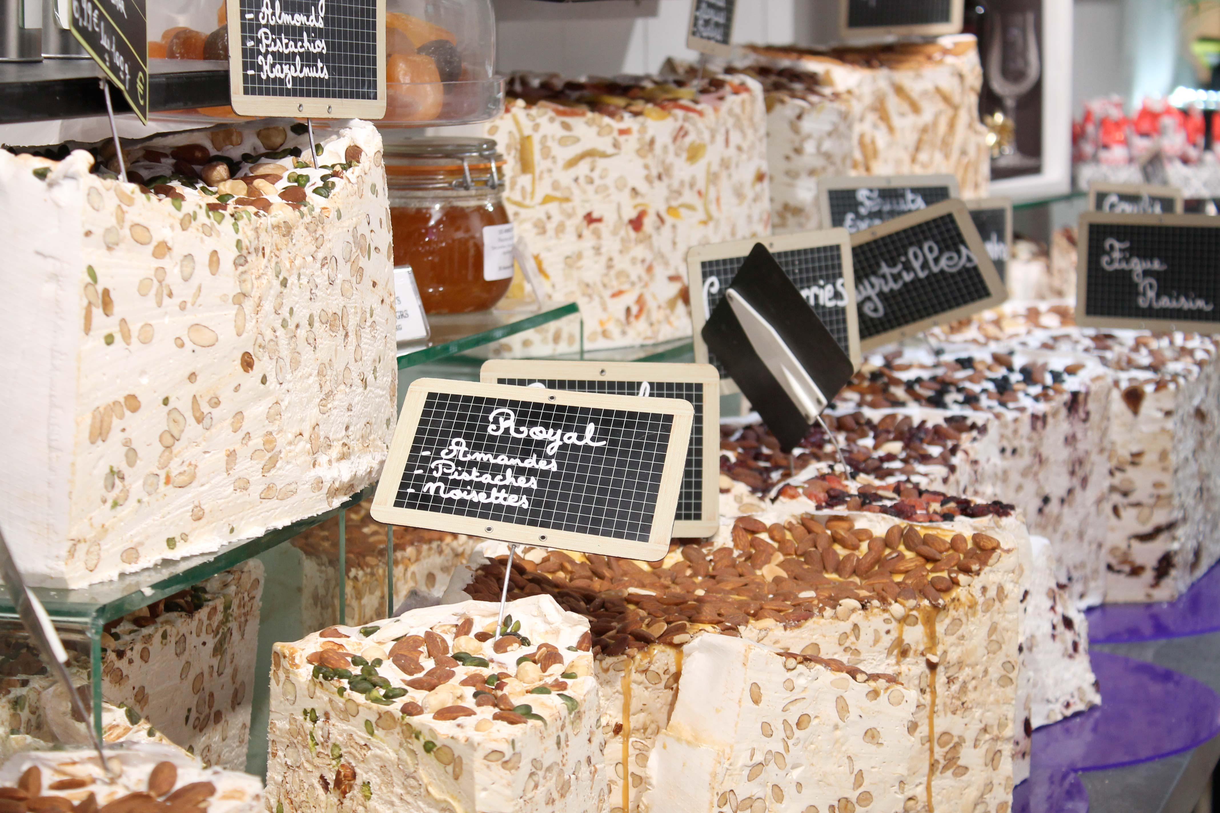 Shore excursion, nougat stall, Aix en Provence