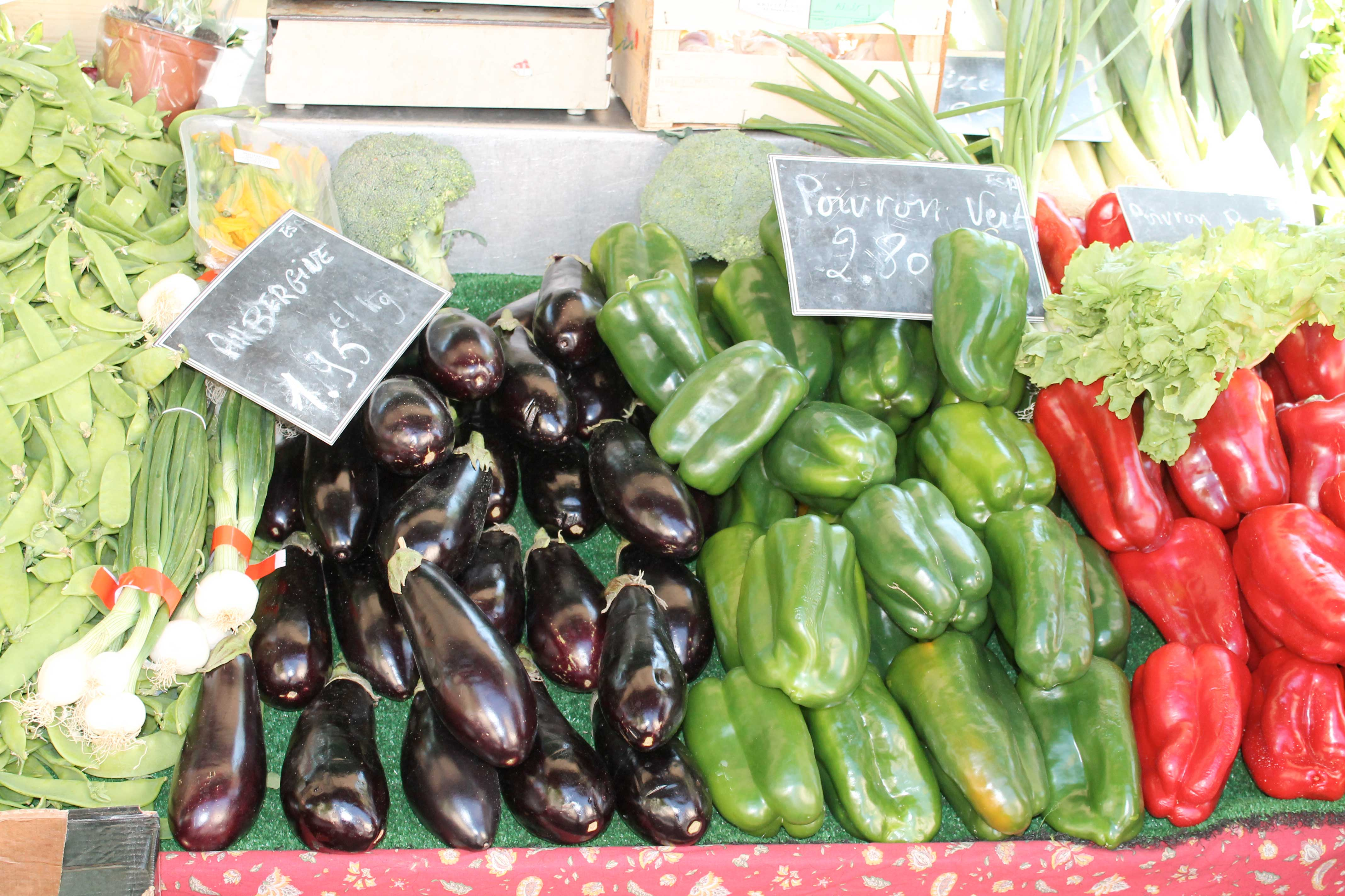 Aix en Provence market, vegetable stall