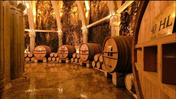 The wine cellar at Chateau Romanin, Les Baux de Provence