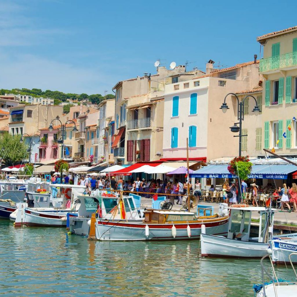 Shore excursion,the port of Cassis