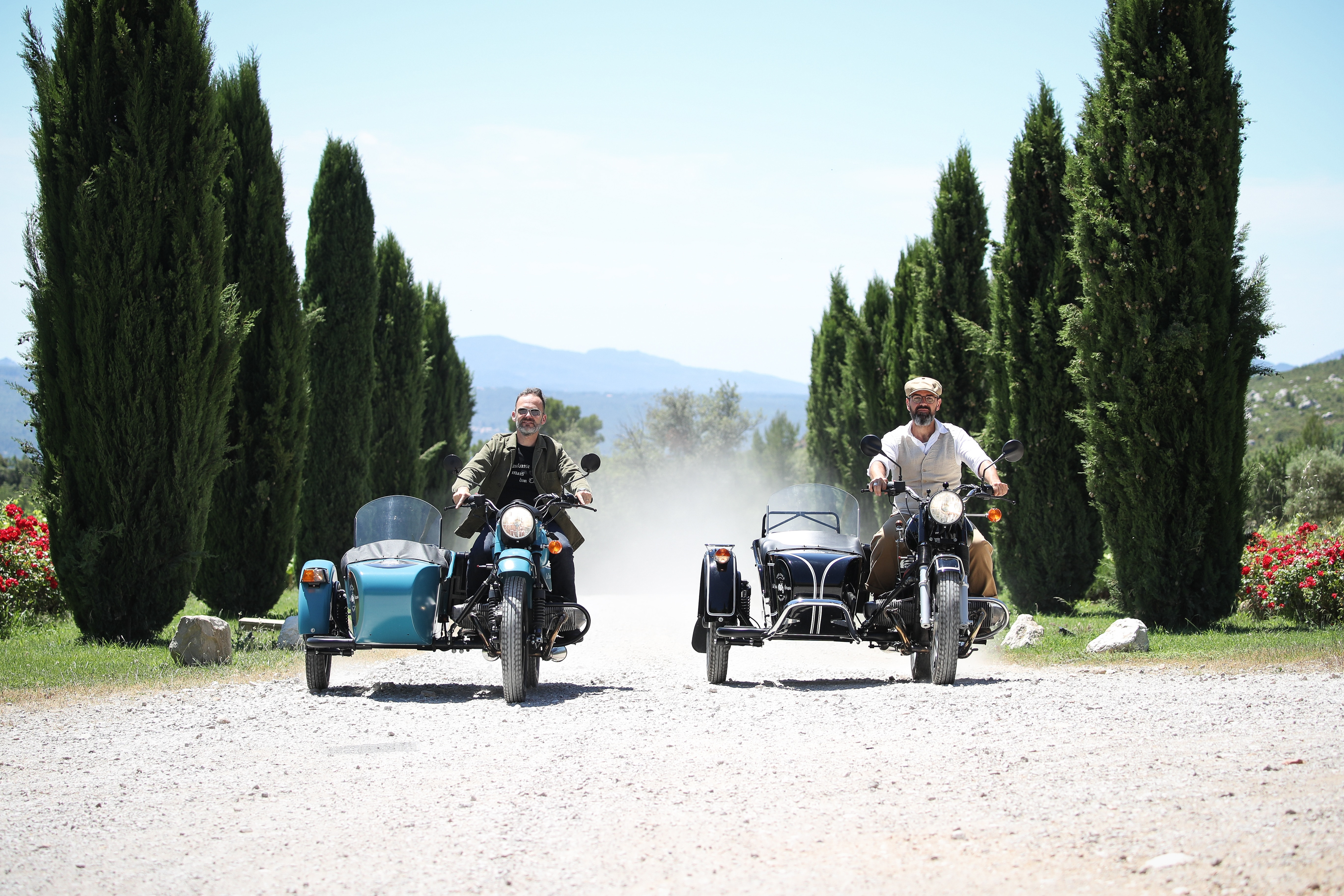 Provence wine tour, two sidecars in a wine estate